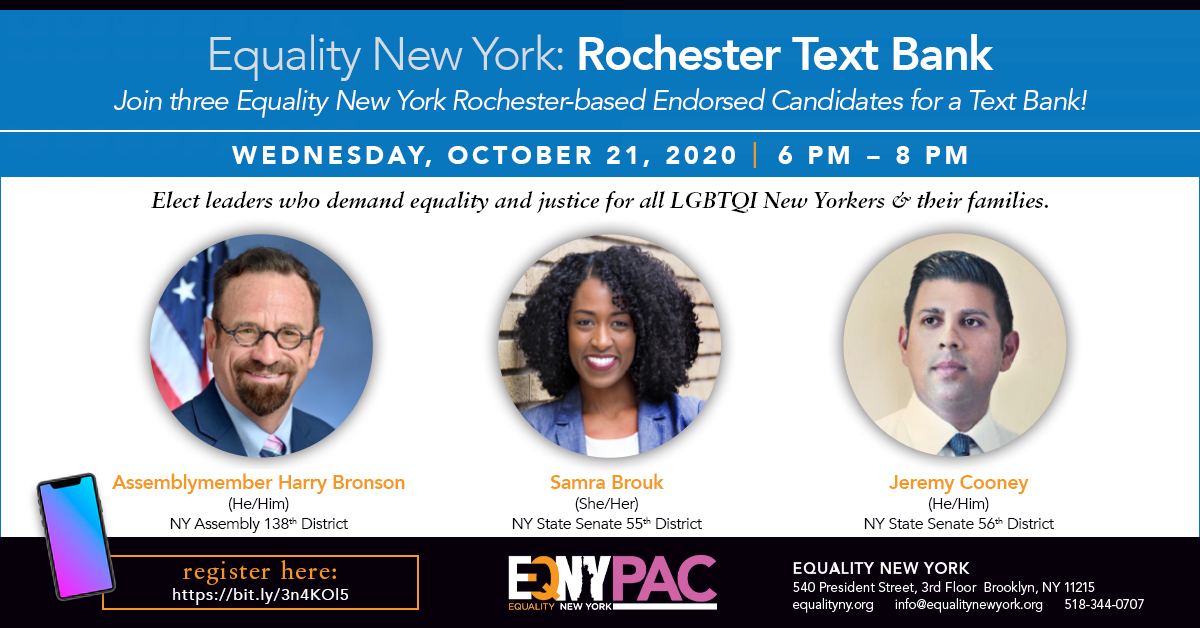 EQNY PAC: Rochester Text Bank