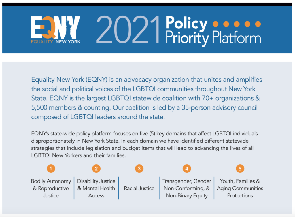 EQNY 2021 Policy Priorities