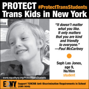 EQNY Launches #ProtectTransStudents Campaign